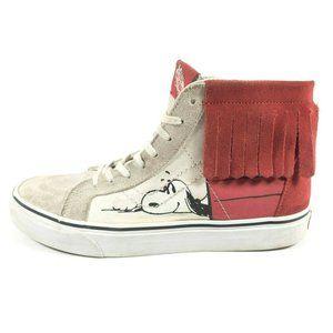 Vans Peanuts Sk8 Hi Moc Fringe Snoopy Sneakers